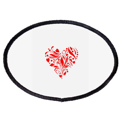 Vintage Heart Shape Oval Patch Designed By Chiks