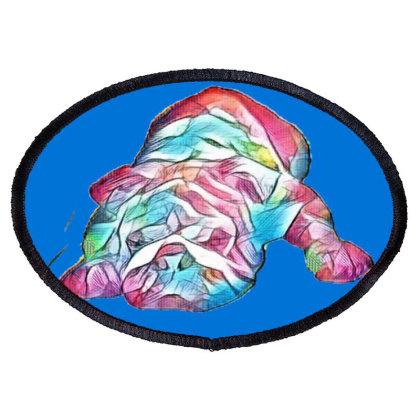 A Pretty Basset Hound Dog Sit Oval Patch Designed By Kemnabi