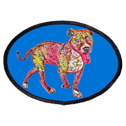 Happy Looking Staffordshire B Oval Patch Designed By Kemnabi