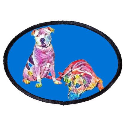 American Staffordshire And La Oval Patch Designed By Kemnabi