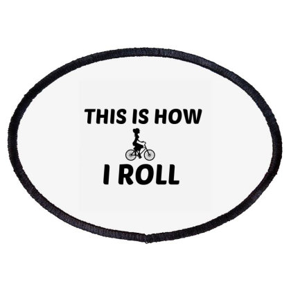Bike Woman Roll Oval Patch Designed By Perfect Designers