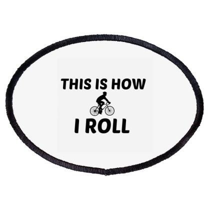 Biker Man Roll Oval Patch Designed By Perfect Designers