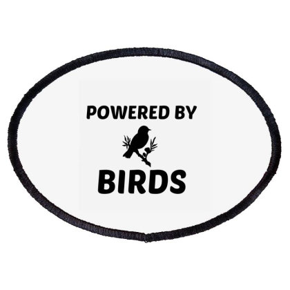 Birds Powered Oval Patch Designed By Perfect Designers