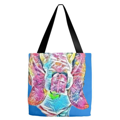 Hungry Basset Hound Dog With Tote Bags Designed By Kemnabi