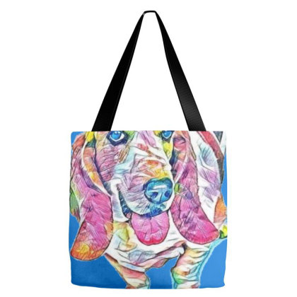 A Cute Adult Basset Hound Dog Tote Bags Designed By Kemnabi