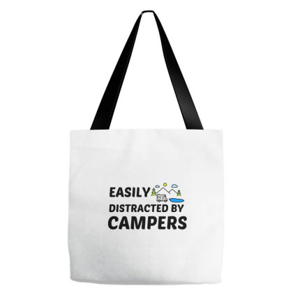 Campers Easily Distracted Tote Bags Designed By Perfect Designers