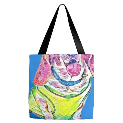 Cute Basset Hound Dog Wearing Tote Bags Designed By Kemnabi