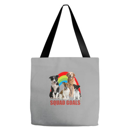 Squad Goal Funny Cute Dogs Tote Bags Designed By Jack14