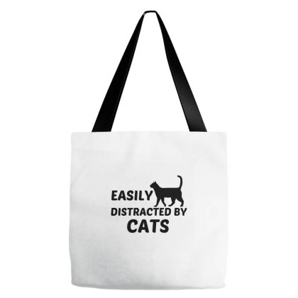 Cats Easily Distracted Tote Bags Designed By Perfect Designers