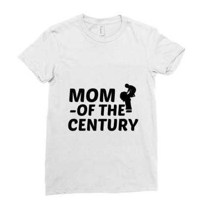 Century Mom Ladies Fitted T-shirt Designed By Perfect Designers