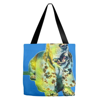 Funny Photo Of A Basset Hound Tote Bags Designed By Kemnabi