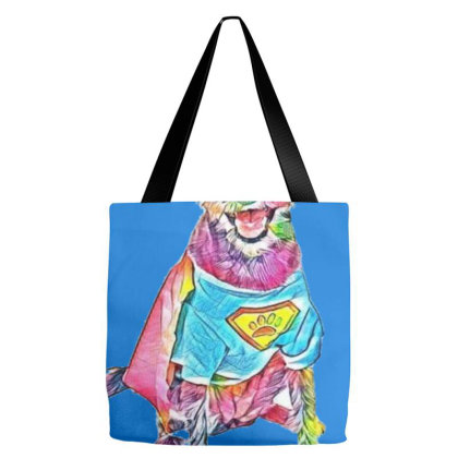 Cute And Happy Terrier Crossb Tote Bags Designed By Kemnabi