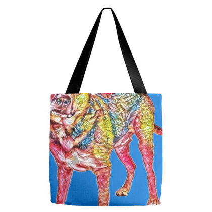 Friendly Adult Shepherd Cross Tote Bags Designed By Kemnabi