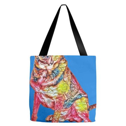 Friendly Shepherd Mixed Breed Tote Bags Designed By Kemnabi