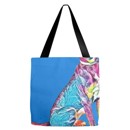 Adorable Young Tri-color Houn Tote Bags Designed By Kemnabi