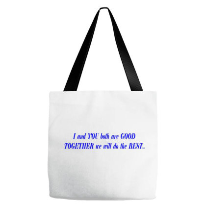 I & You Tote Bags Designed By Ashwinii Kummar