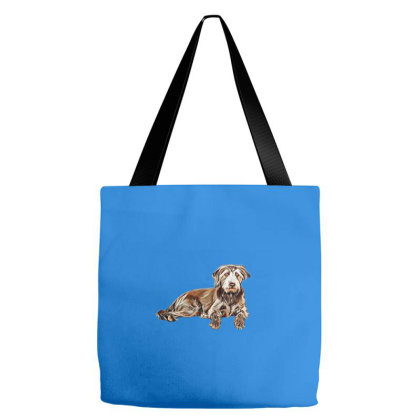 Adult Mixed Breed Terrier Dog Tote Bags Designed By Kemnabi
