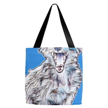 Cute Little Terrier Dog Sitti Tote Bags Designed By Kemnabi