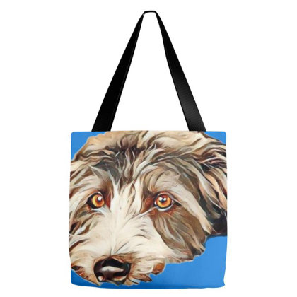 Bored Large Terrier Breed Dog Tote Bags Designed By Kemnabi