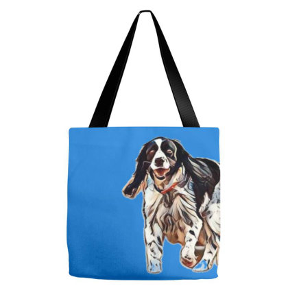 Happy And Active Springer Spa Tote Bags Designed By Kemnabi