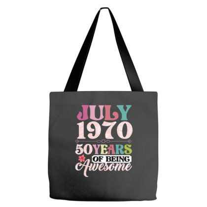 July 1970 50 Years Of Being Awesome Tote Bags Designed By Ashlıcar