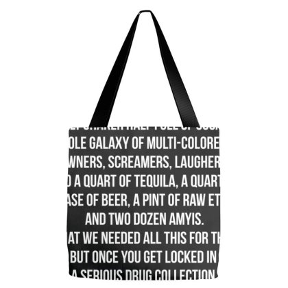 Fear And Loathing - Hunter S. Thompson Quote Tote Bags Designed By Helloshop