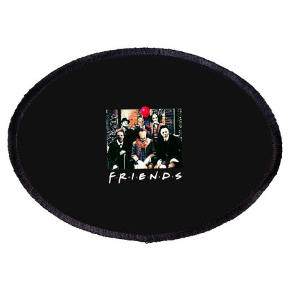 Friends Spooky Clown Jason Squad Halloween Horror For Dark Oval Patch Designed By Palm Tees