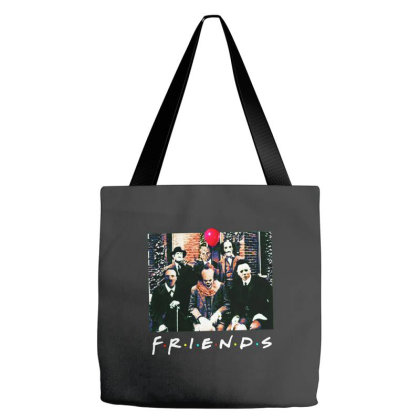 Friends Spooky Clown Jason Squad Halloween Horror For Dark Tote Bags Designed By Palm Tees