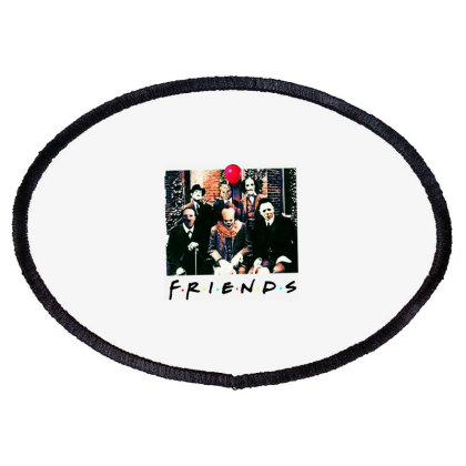 Friends Spooky Clown Jason Squad Halloween Horror For Light Oval Patch Designed By Palm Tees