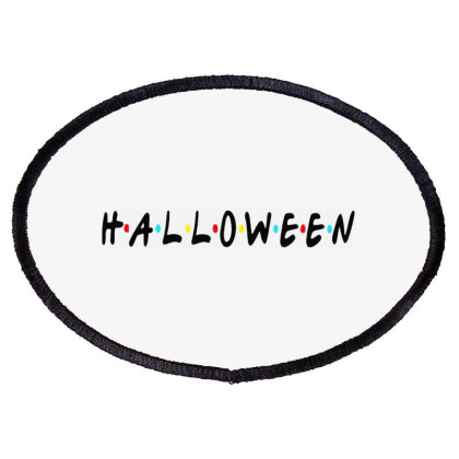 Halloween For Light Oval Patch Designed By Palm Tees
