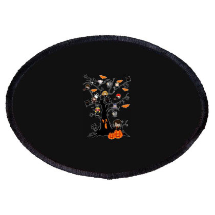 Halloween Harry Tree Funny Oval Patch Designed By Palm Tees