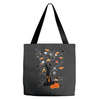 Halloween Harry Tree Funny Tote Bags Designed By Palm Tees