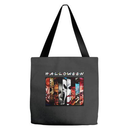 Halloween Horror Charaters Friends For Dark Tote Bags Designed By Palm Tees