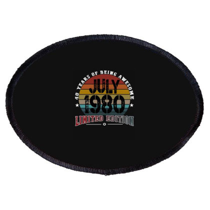 40 Years Of Being Awesome July 1980 Limited Edition Oval Patch Designed By Ashlıcar