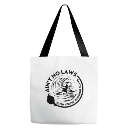 Halloween Witch Ain't No Laws You're Drinking Claws For Light Tote Bags Designed By Palm Tees
