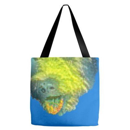 Terrier Crossbreed Dog Closeu Tote Bags Designed By Kemnabi