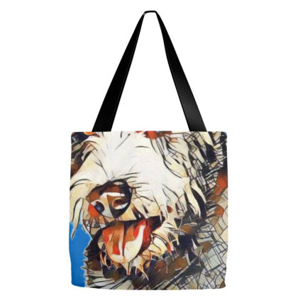 Cute Scruffy Grey Color Dog C Tote Bags Designed By Kemnabi