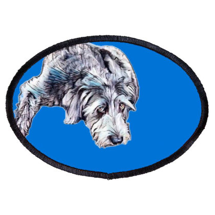 Cute Scruffy Terrier Mixed Br Oval Patch Designed By Kemnabi