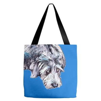 Cute Scruffy Terrier Mixed Br Tote Bags Designed By Kemnabi