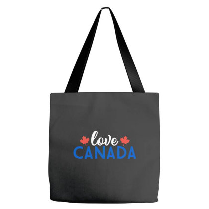 Love Canada Tote Bags Designed By Palm Tees