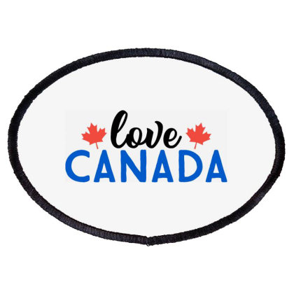 Love Canada Oval Patch Designed By Palm Tees