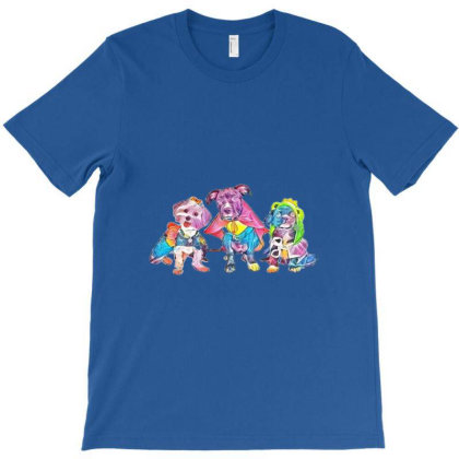 Three Cute Little Puppy Dogs T-shirt Designed By Kemnabi