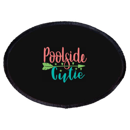 Poolside Cutie Oval Patch Designed By Palm Tees