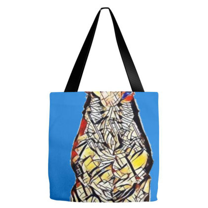 Cute And Happy Tan Color Mixe Tote Bags Designed By Kemnabi