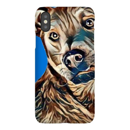 Closeup Of A Cute Dog With A Iphonex Case Designed By Kemnabi