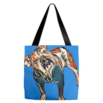Cute Adult English Bulldog Br Tote Bags Designed By Kemnabi