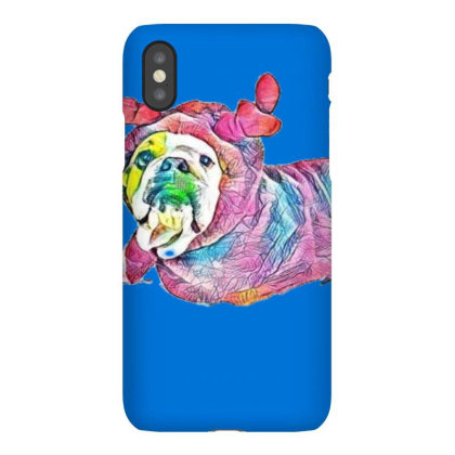 Funny Photo Of A Bulldog Bred Iphonex Case Designed By Kemnabi