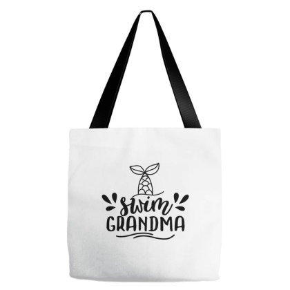 Swim Grandma Tote Bags Designed By Palm Tees