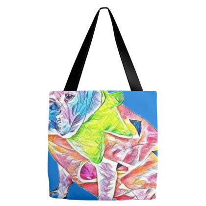Full Length Of Bulldog Dresse Tote Bags Designed By Kemnabi