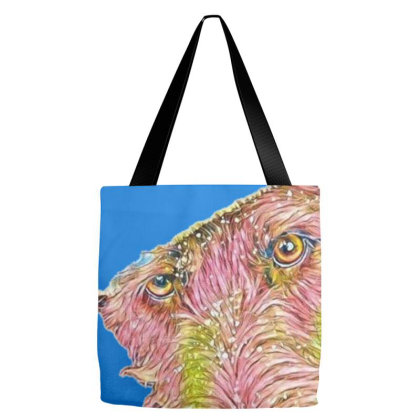 Closeup Portrait Of Terrier D Tote Bags Designed By Kemnabi